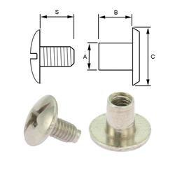 Stålskruv 5 mm. 5-pack