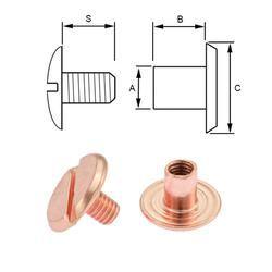 Rosé skruv 4 mm. 5-pack