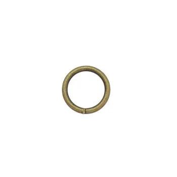 Ringar 15 mm. 5-pack Antik mässing.
