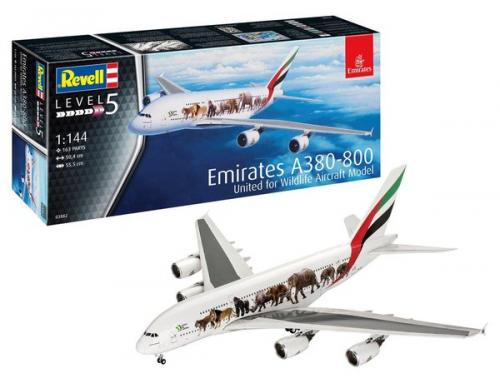 """Airbus A380 Emirates """"Wild-Life"""" 1/144"""