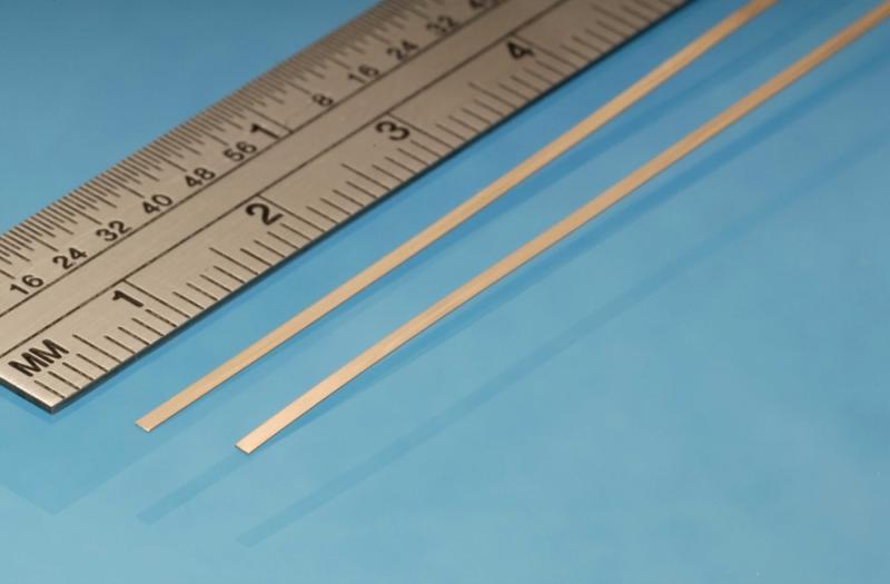 Phosphor Bronze Strip, 1 mm x 0.135 mm , 2pcs, 305mm