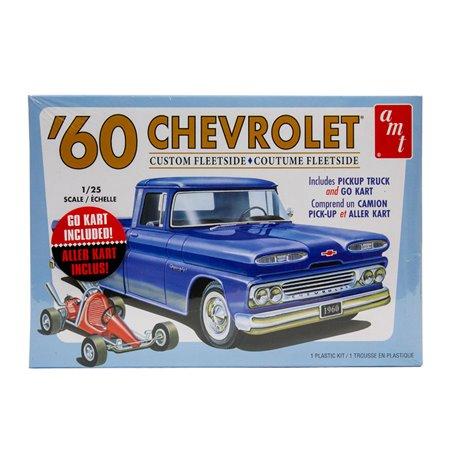 1960 Chevy Custom Fleetside Pickup w. Go Kart 1/25