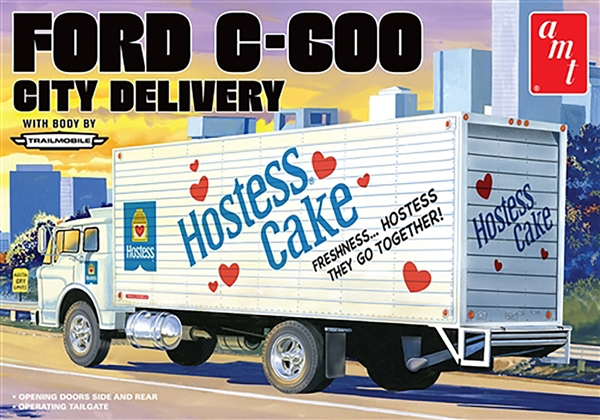 Ford C-600 City DelIVery Box Truck 1/25