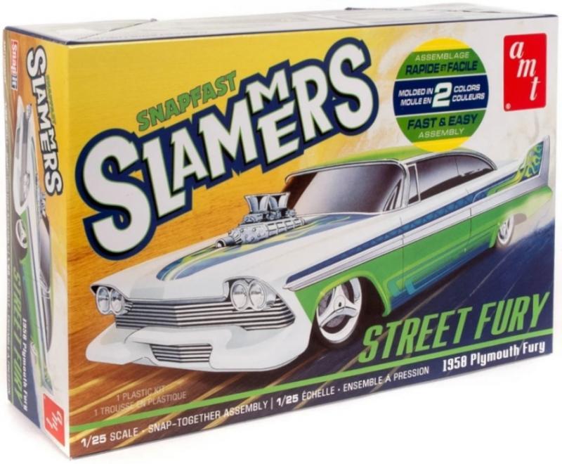 STREET FURY 1958 PLYMOUTH - SLAMMERS - NO GLUE 1/25