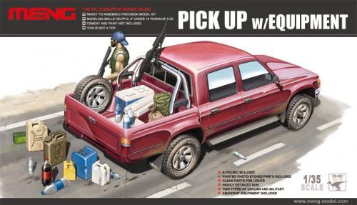 Toyota Hilux Pick Up Truck w/ M82a1 Rifle / M240B Gun 1/35