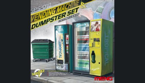 Vending Machine and Dumpster Set 1/35