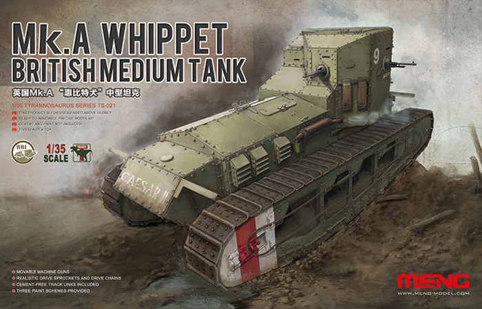 British Medium Tank Mk.A Whippet 1/35