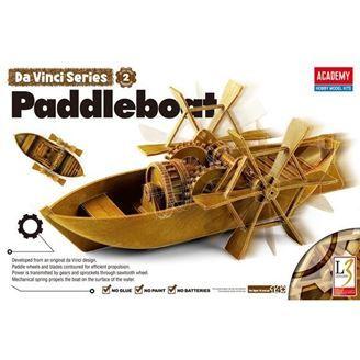 Leonardo da Vinci Paddelboat (no glue, moveable parts)