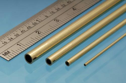 Brass Tube, 1 x 0.25 mm, 4pcs, 305mm