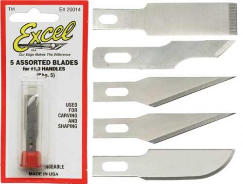 5 Assorted Blades for #1,3 Handles