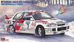 Mitsubishi Lancer GSR Evolution III 1996 Swedish Rally winner 1/24