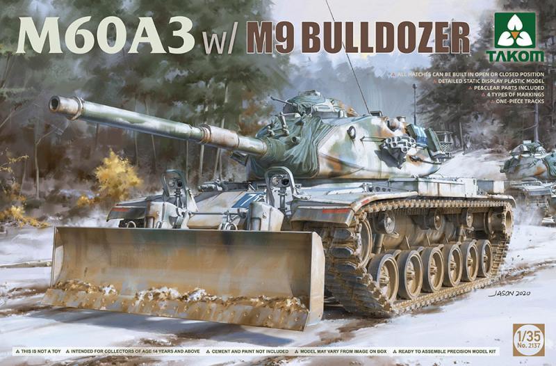 M60A3 w M9 Bulldozer 1/35