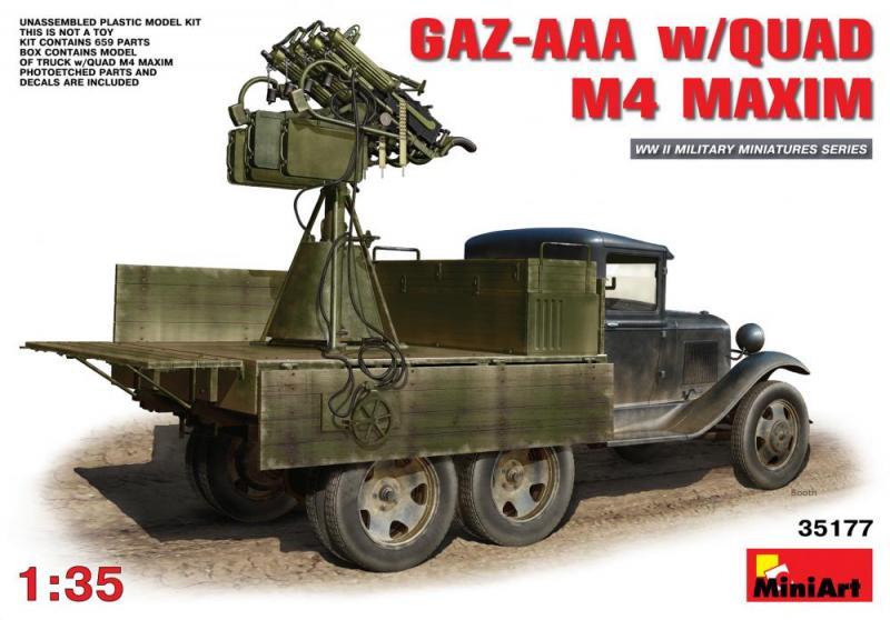 Gaz-AAA w Quad M4 Maxim 1/35