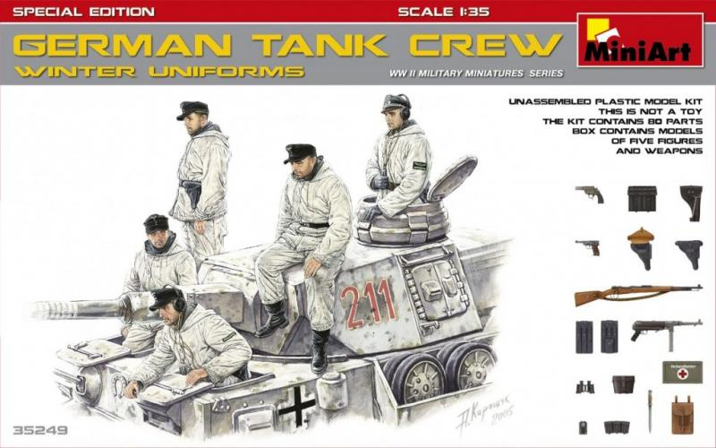 GERMAN TANK CREW (WINTER UNIFORMS). SPECIAL EDITION