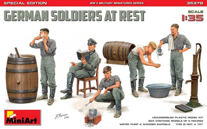 German Soldiers at Rest Special Edition 1/35