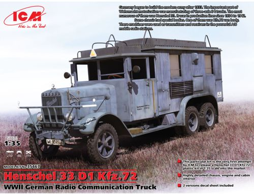 Henschel 33 D1 Kfz.72 - WWII German Radio Communication Truck 1/35
