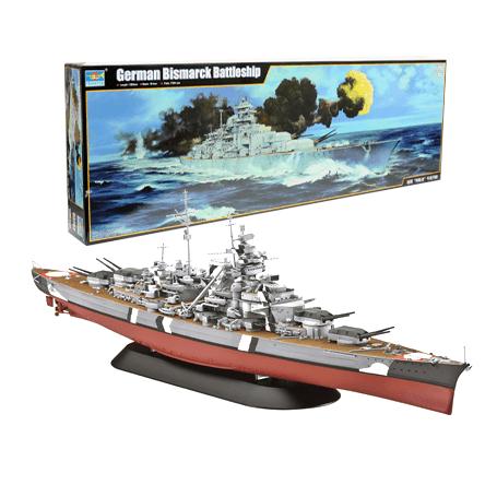 Bismarck Schlachtschiff L. 127 cm 1/200