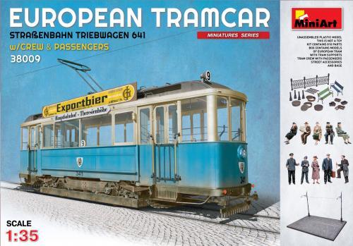 EUROPEAN TRAMCAR (StraBenbahn Triebwagen 641) w/CREW & PASSENGERS 1/35