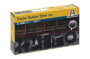 Trailer Rubber Tyres 1/24