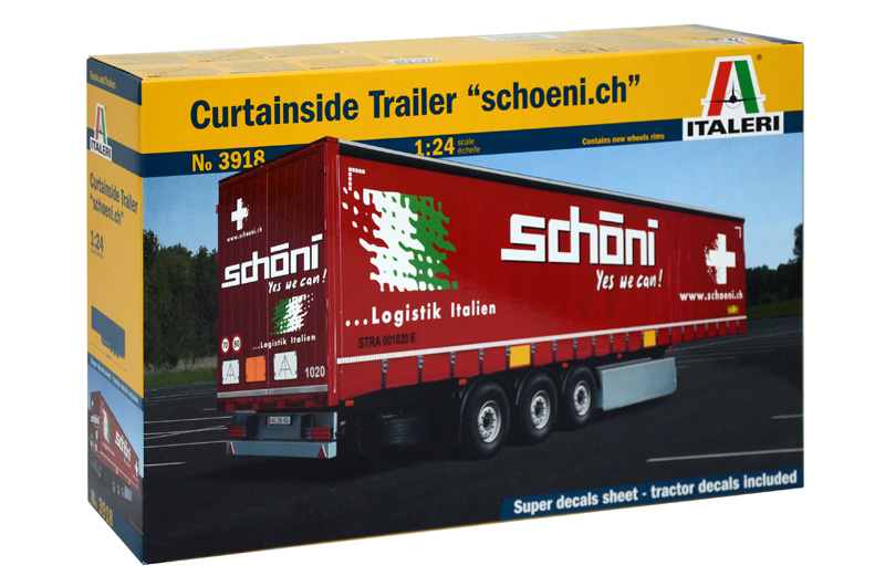 "CURTAINSIDE TRAILER ""Schoeni.ch"" 1/24"
