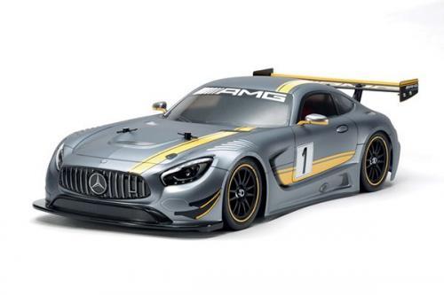 Radiostyrd bil, Sportbil MERCEDES-AMG GT3 silver