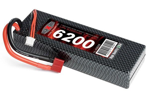 (LIPO) 7,4V 6200MAH 65C T-PLUG HARD CASE