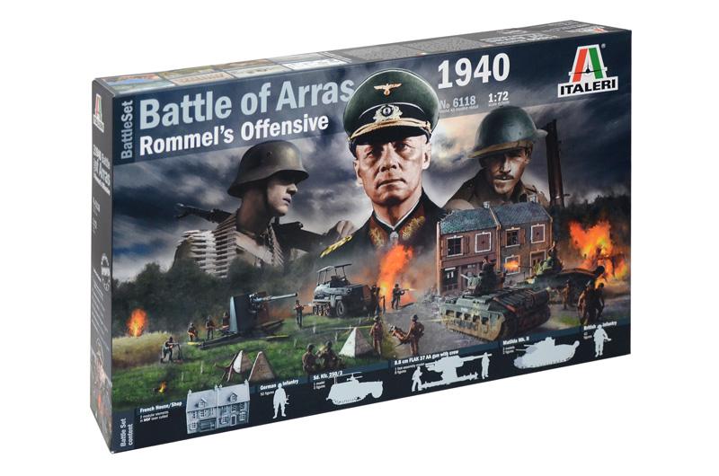 WWII 1940 BATTLE OF ARRAS - ROMMEL'S OFFENSIVE 1/72