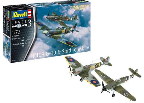 Combat Set BF109G-10 & Spitfire MK 1/72
