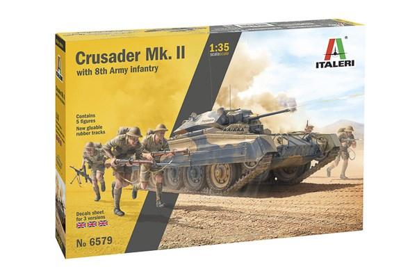 Crusader Mk. II w 8th Army Infantry 1/35