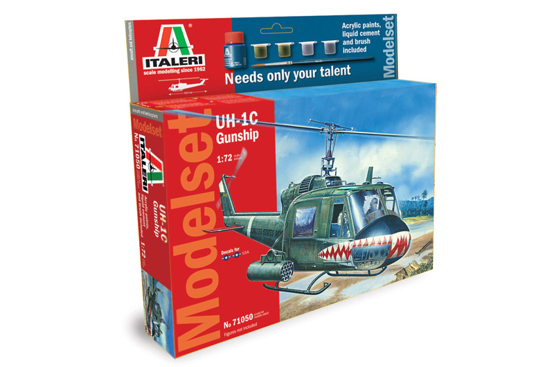 UH-1C GUNSHIP - MODELSET 1/72
