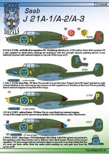 SAAB J21A-1/A-2/A-3 1/72