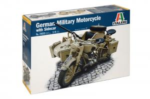 BMW German Military Motorcycle with side car 1/9