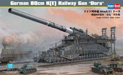 80cm K Railway Gun Dora 1/72