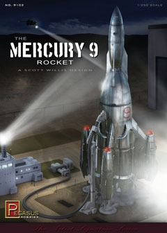 Mercury 9 Rocket 1/350