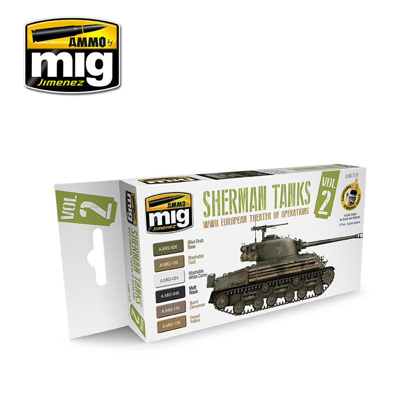 WWII EUROPEAN THEATER OF OPERATIONS SHERMAN TANKS
