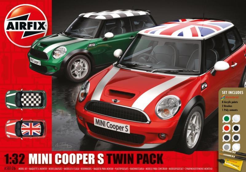 MINI Cooper S Twin Pack Gift Set 1/32