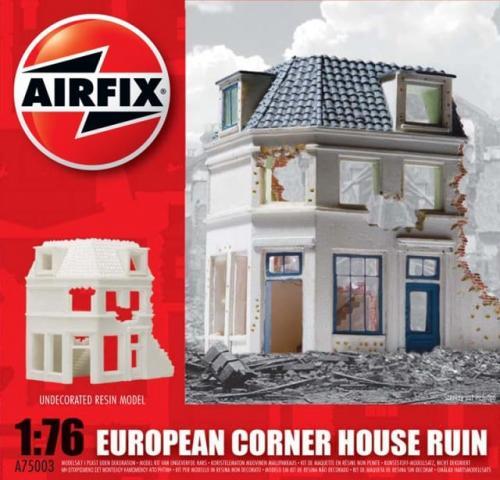 European Corner House Ruin 1/76