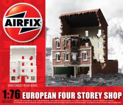 European Four Storey Shop 1/76