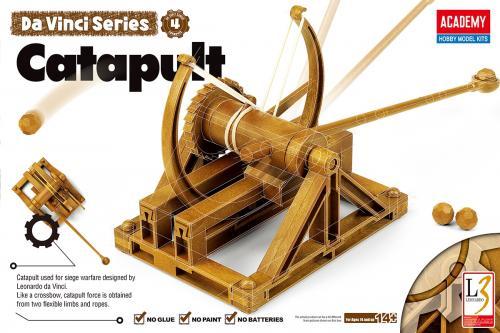Leonardo da Vinci Catapult (no glue, moveable parts)