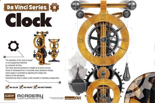 Leonardo da Vinci Clock (no glue, moveable parts)