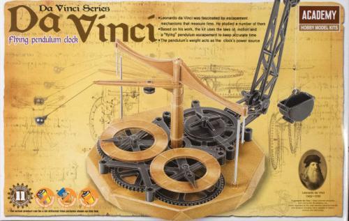 Leonardo da Vinci Pendulum Clock (no glue, movable parts)