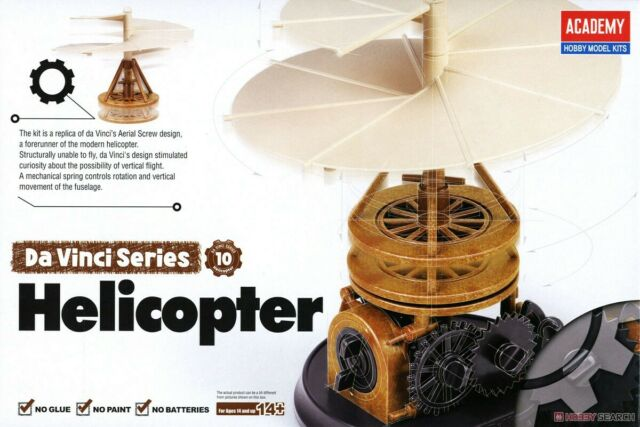 Leonardo da Vinci Pendulum Helicopter (no glue, movable parts)