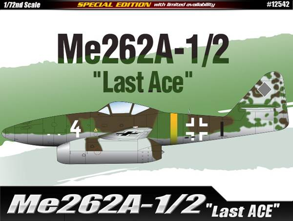 "Me262A-1/2 ""Last Ace"" Limited Edition 1/72"