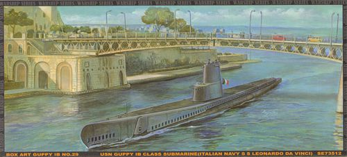 USS Guppy 1B Class Submarine in Taranto 1/350