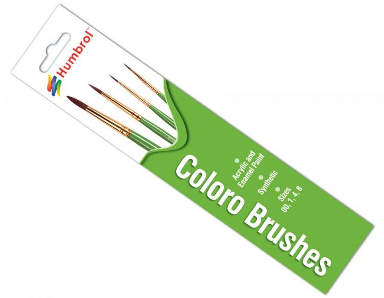 Coloro Brush Pack - (x4) 00/1/4/8