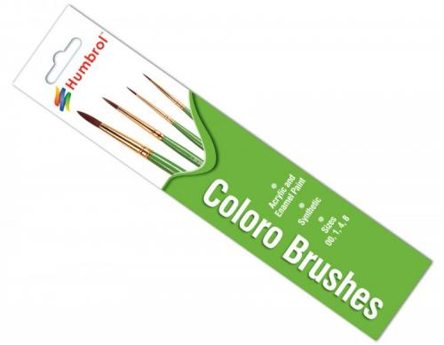 Coloro Brush Pack - (x4) 00/1/4/8
