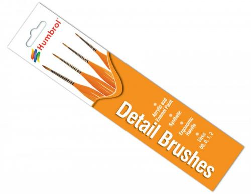 Detail Brush Pack - (x4) 00/0/1/2
