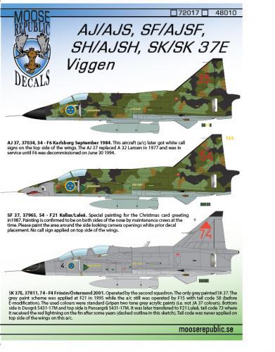 AJ/SF/SK 37 Viggen 1/48