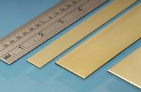 Brass Strip, 6 x 0.4 mm, 5pcs, 305mm