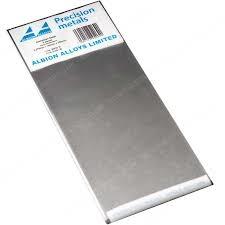 Aluminiumplåt 0,276 mm 2 sheets - 100 x 250 mm